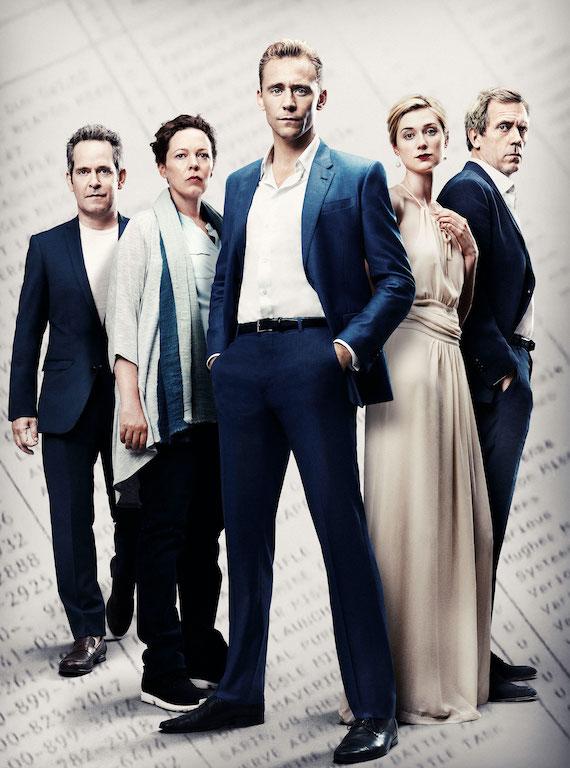 Tom Hollander, Olivia Colman, Tom Hiddleston, Elizabeth Debicki, and Hugh Laurie in The Night Manager