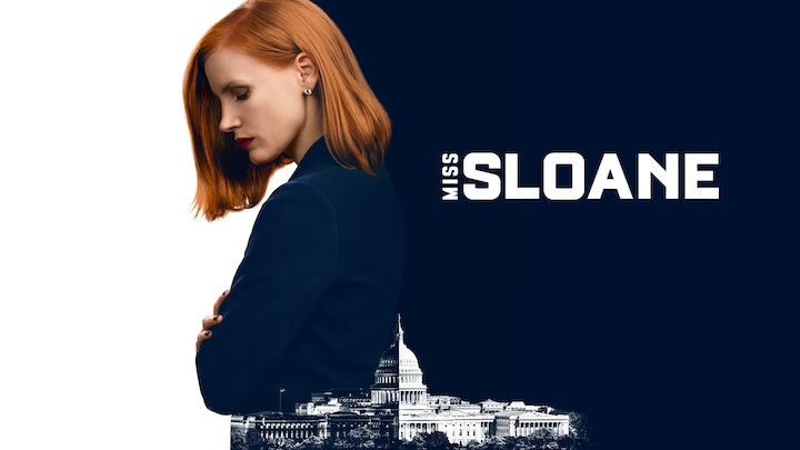 Jessica Chastain on the poster for Miss Sloane