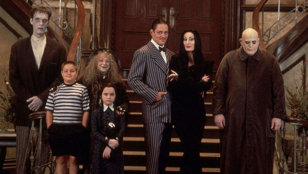The Addams Family cast, 1991